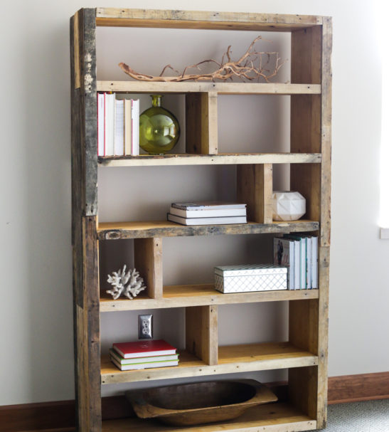 diy custom shelving wood unit restaurant industrial made office rustic media bookcase books to options steel urban reclaimed shelves cafe chic bookshelf order furniture many floating trapezium