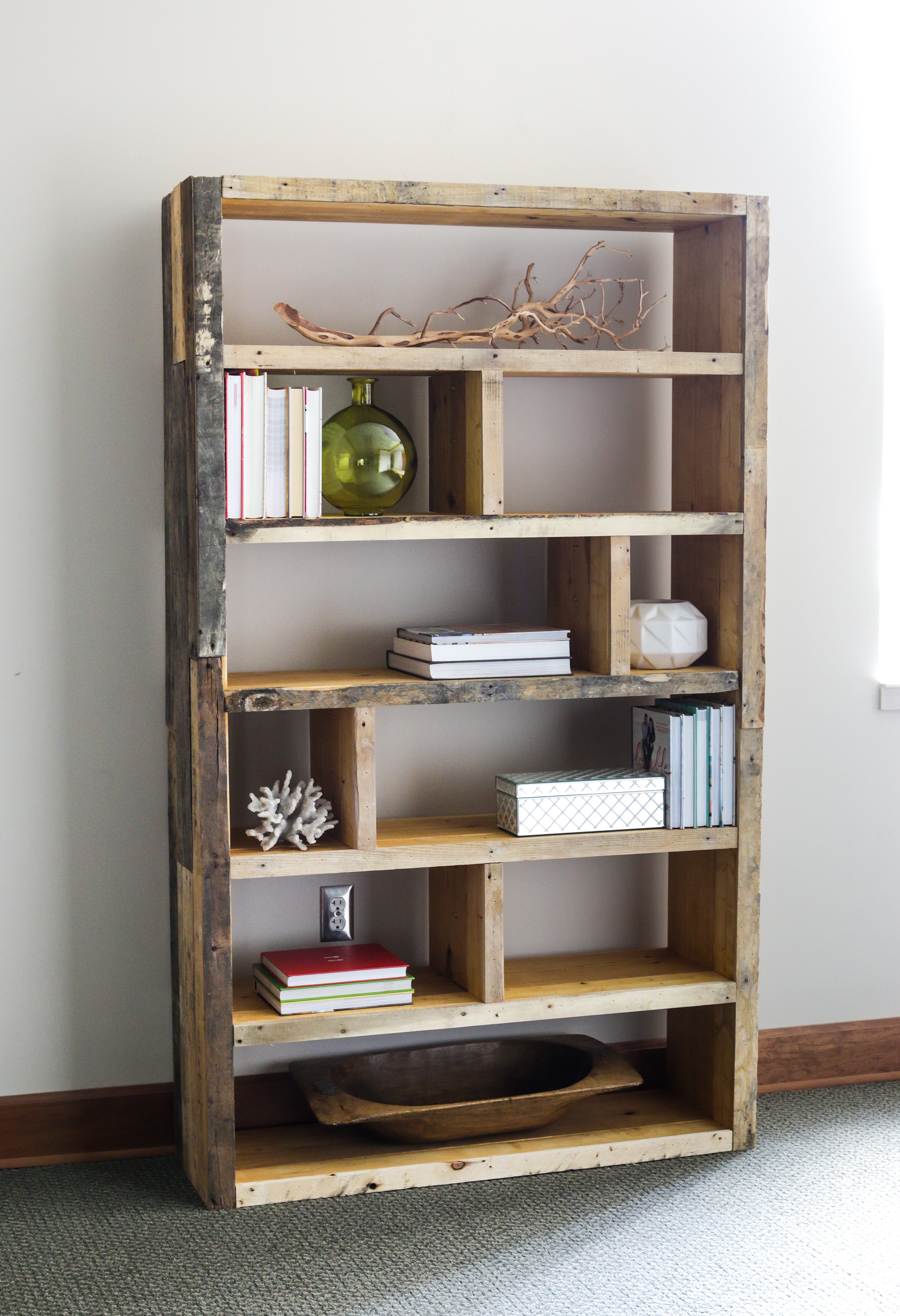 Reclaimed Wood Bookshelf Pine Main