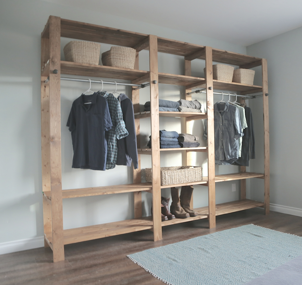 walk in closet systems with vanity. Wood Closet Diy 2×416 Walk In Systems With Vanity