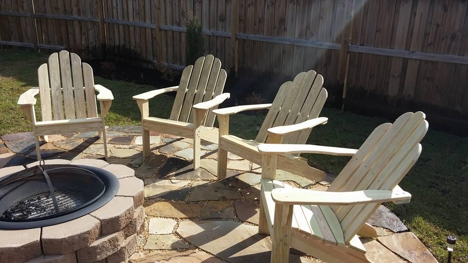 Adirondack Chairs Around Fire Pit 1