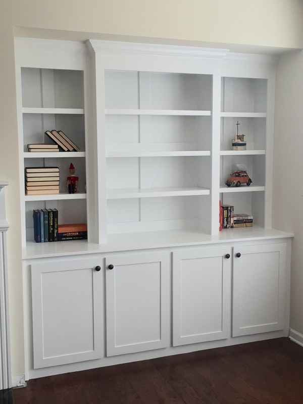 Built in bookcase pine main
