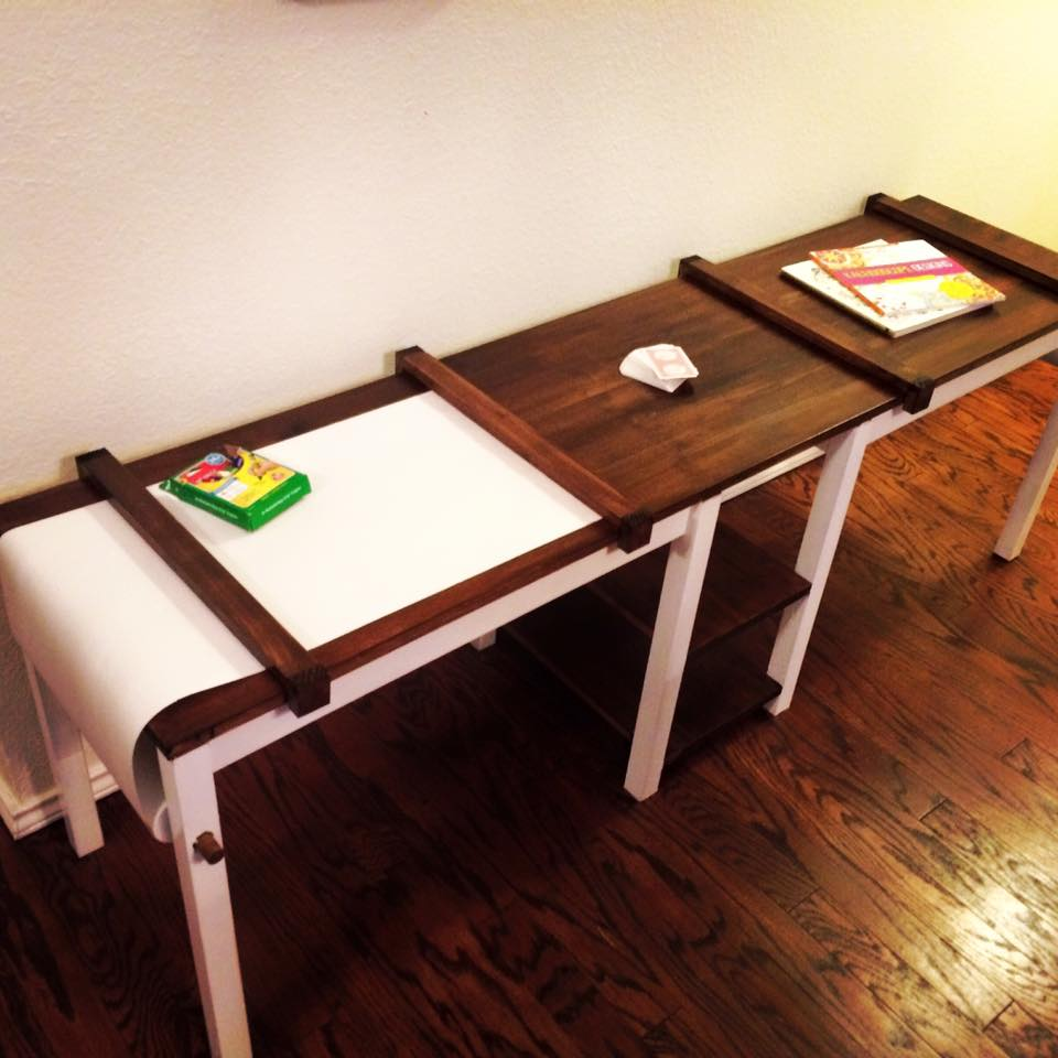 Kid 39 s craft table pine main for Children s craft table