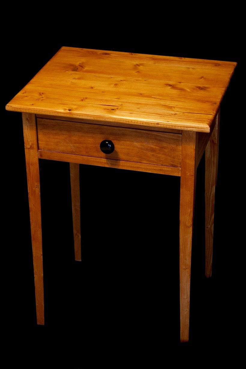 Custom Height Nightstand Pine Main