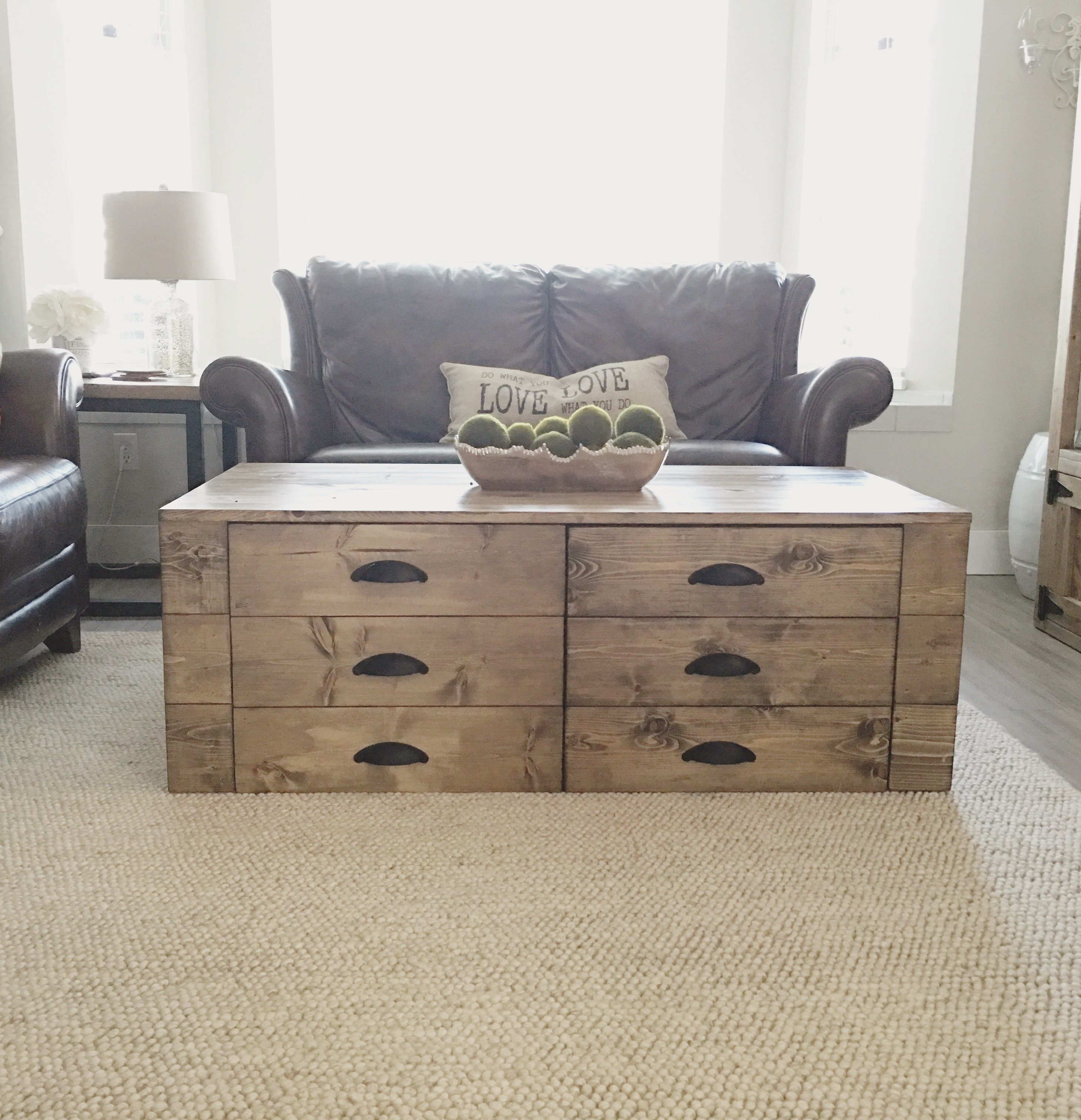 Apothecary Coffee Table Pine Main