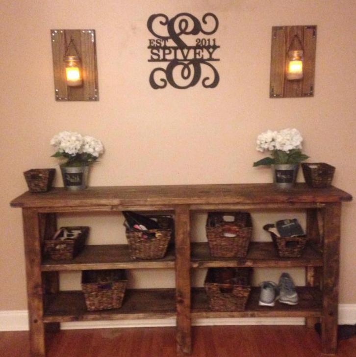 Rustic Pine Foyer Table : Rustic foyer table pine main