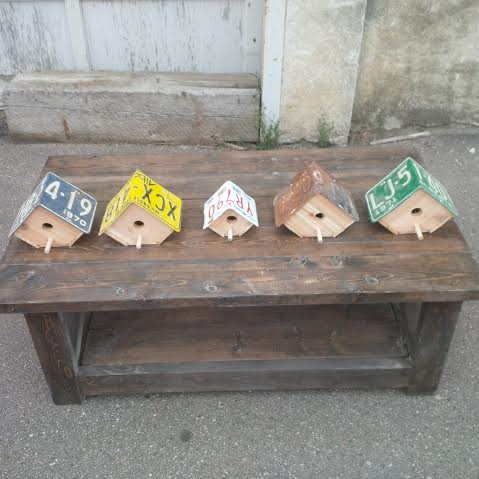 Placa de matrícula Birdhouse (2 tamaños disponibles)