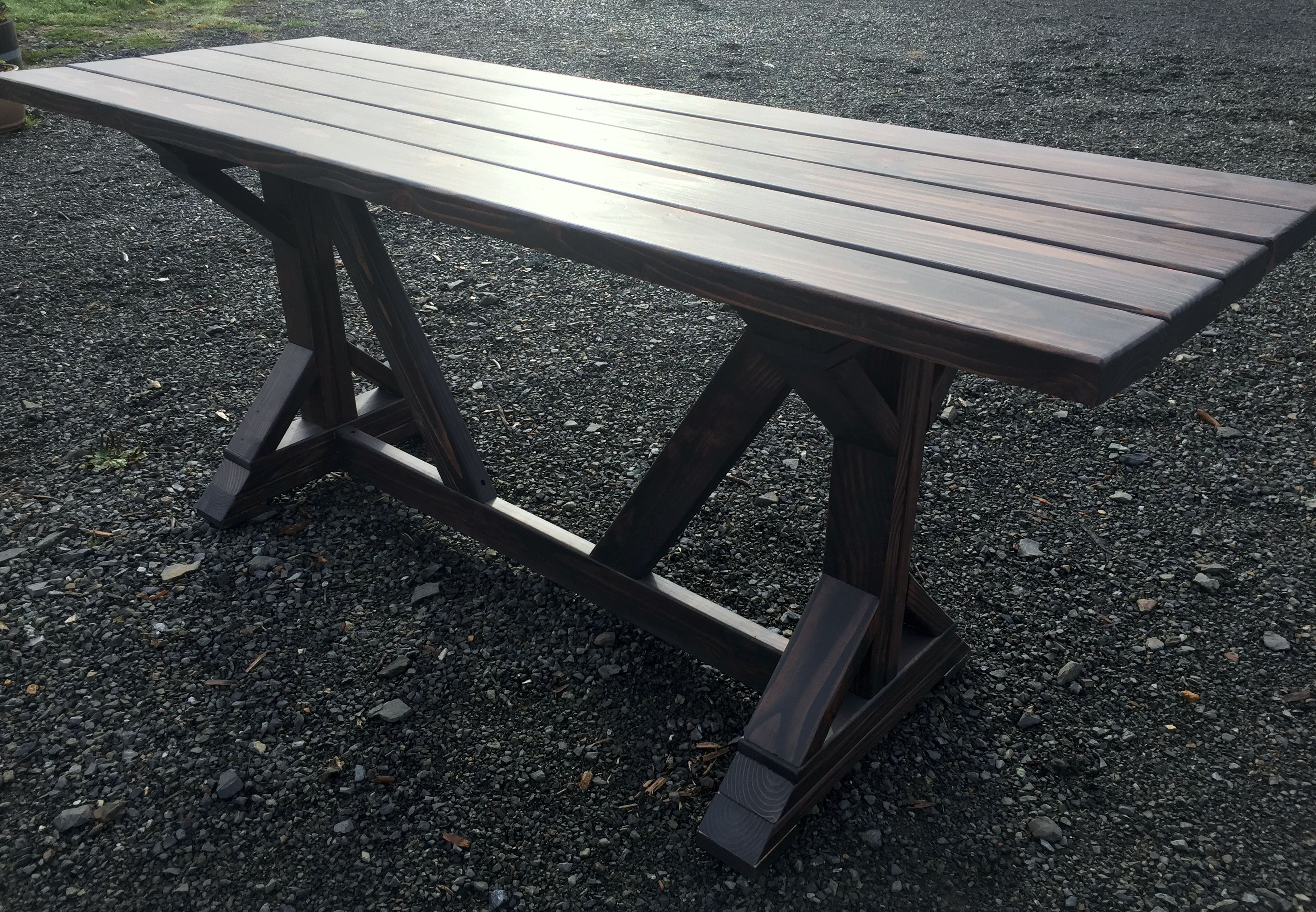 Farmhouse Style Dining Patio Table Pine Main