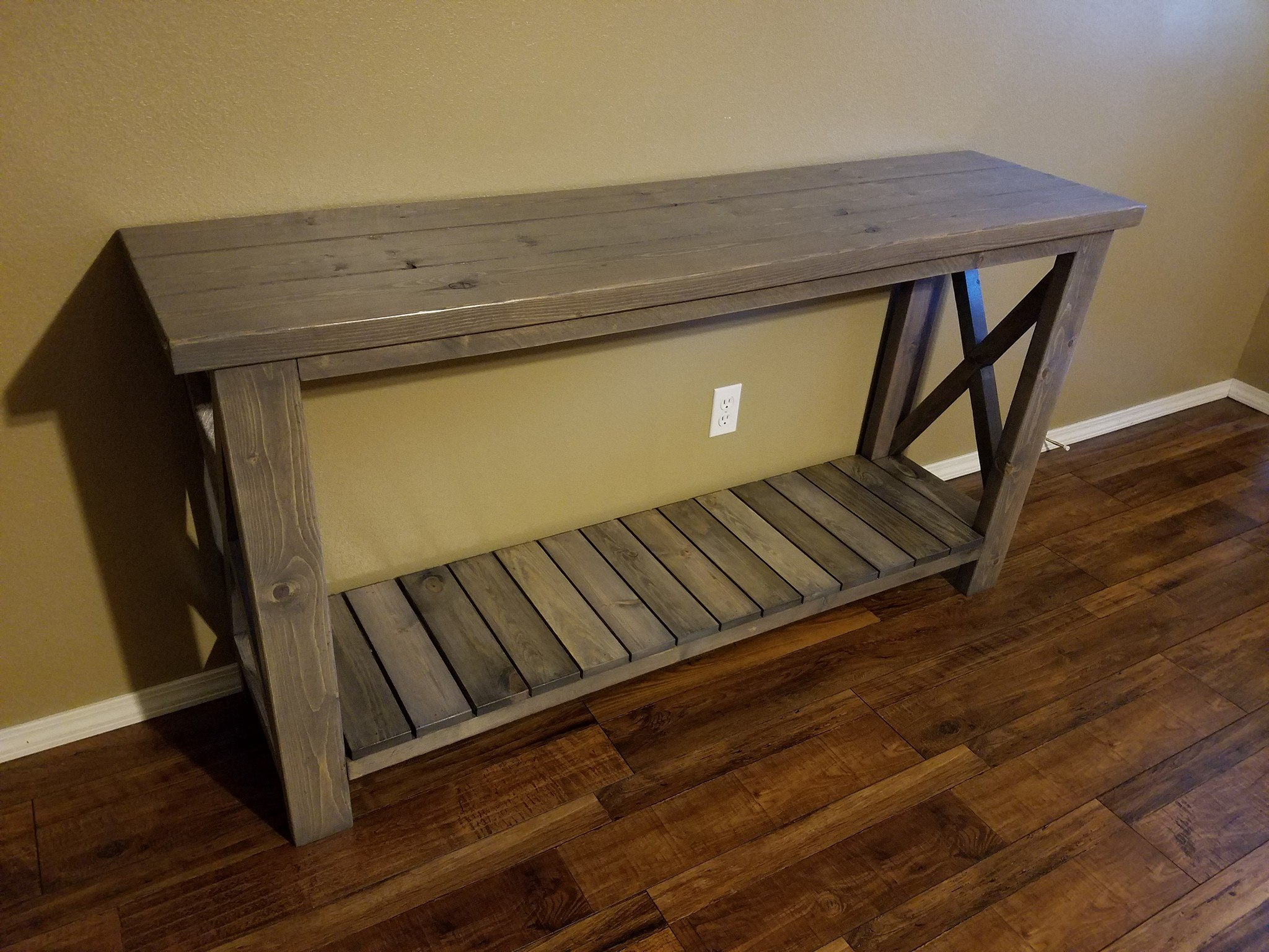 Farmhouse Sofa Entryway Table Pine Main