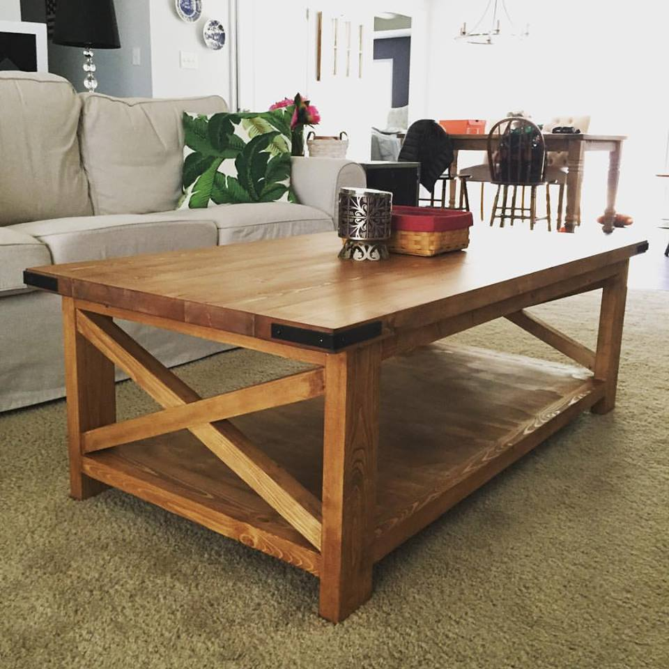 Rustic x coffee table pine main for X coffee tables