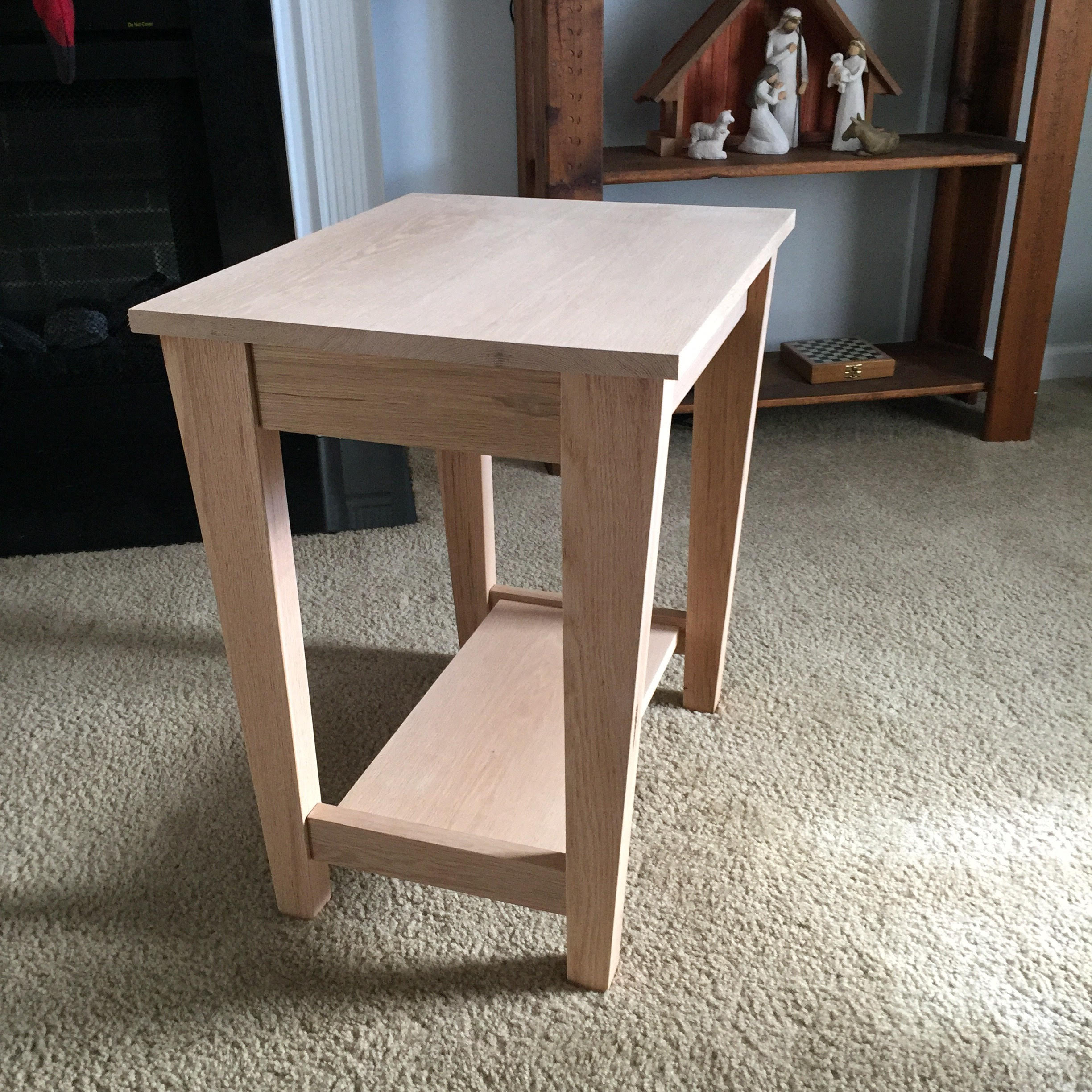 Urban Style Shaker End Table Pine Main