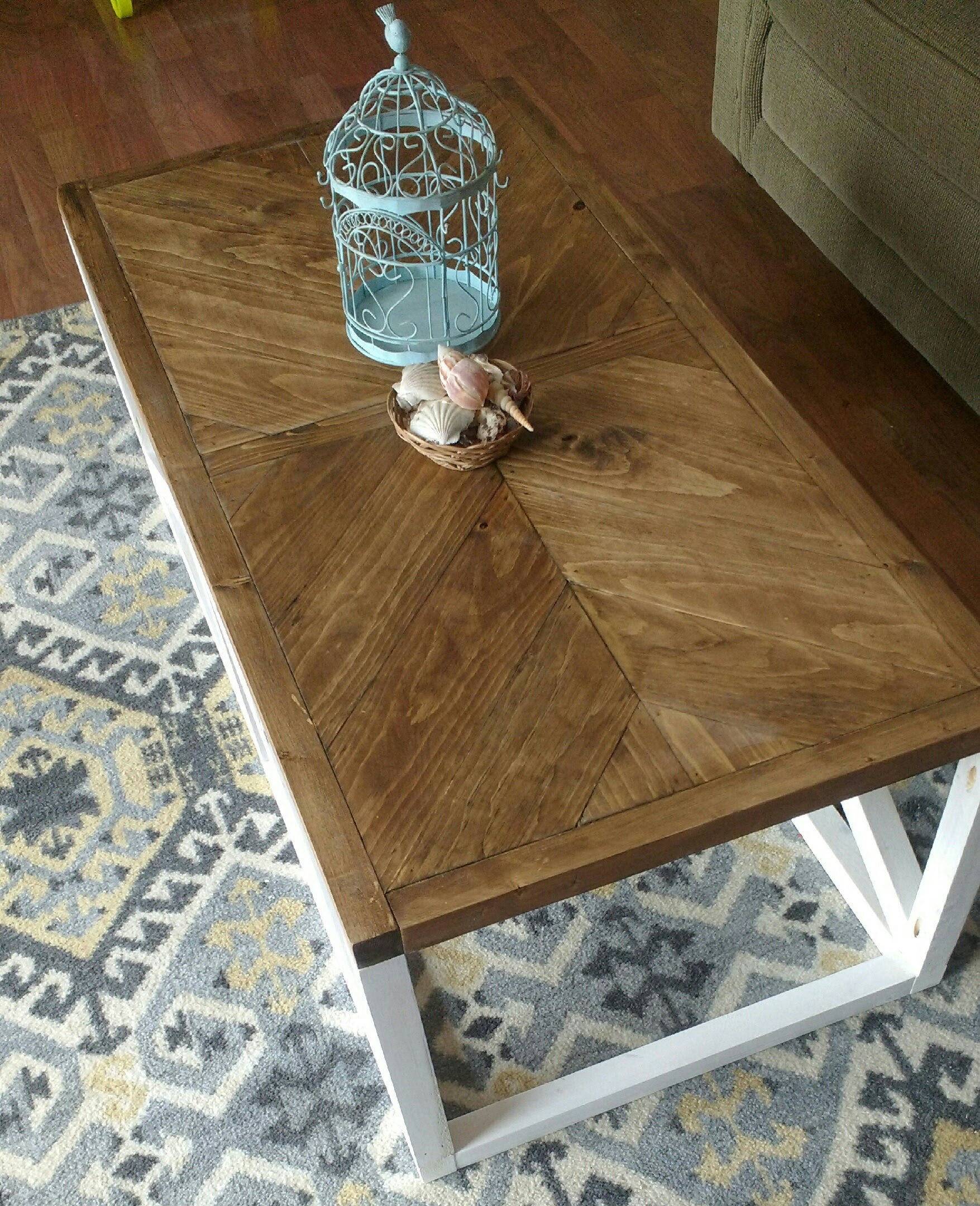 Herringbone Coffee Table Pine Main