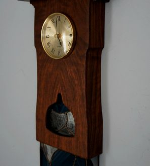 walnut-clock-stained-glass-brass-dial