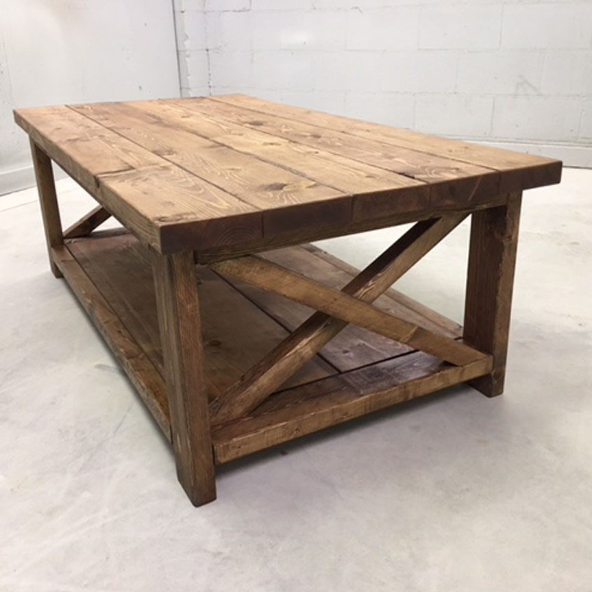 Industrial farmhouse coffee table modern coffee tables for Modern farmhouse coffee table