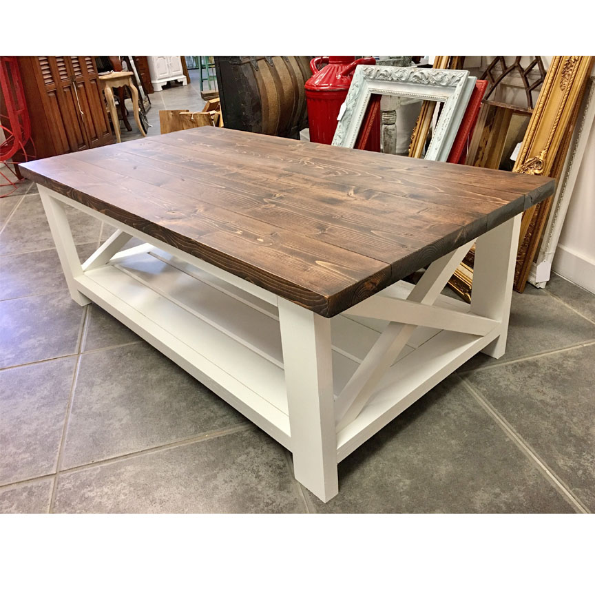 Farmhouse coffee table pine main Farm style coffee tables