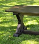 Rustic X Trestle Farmhouse Dining Room Table2