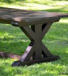 Rustic X Trestle Farmhouse Dining Room Table3