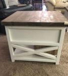 Rustic X Drawer Table sq