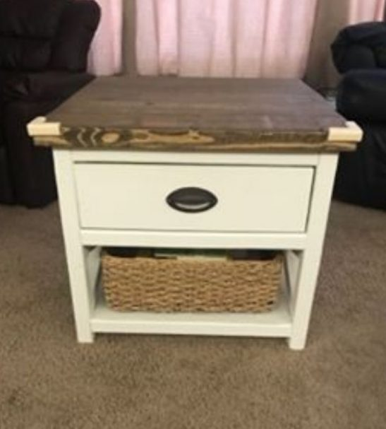 Rustic X Drawer Table sq (2)
