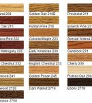 WoodFinishColors-STAIN CHART